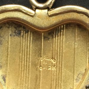 Vintage Jewelry - Gold Heart Locket Sterling with 12 K Gold